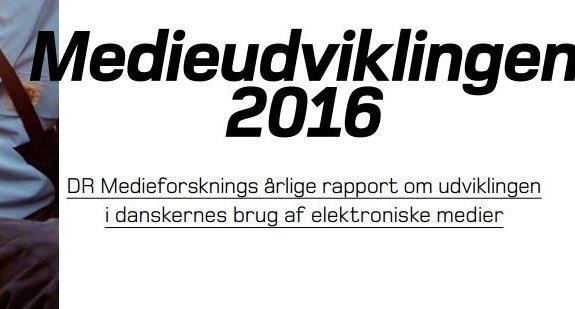 10 vigtige pointer om danskernes medieforbrug i 2016